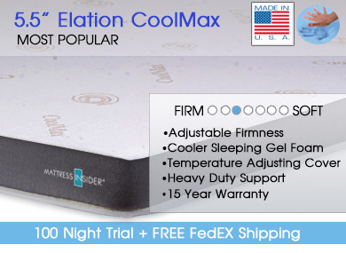 "5.5"" Elation Cool-MAX� Gel Foam RV Mattress II"