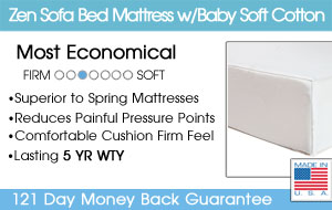 The Zen Sofa Bed Mattress w/Organic Cotton