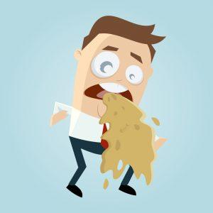 vomit on a mattress