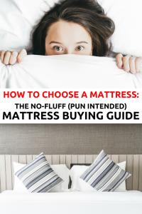Mattress buying guide Pinterest image