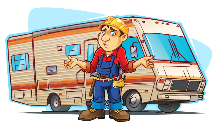 One of the die hard NASCAR fans standing in front of his RV looking disappointed