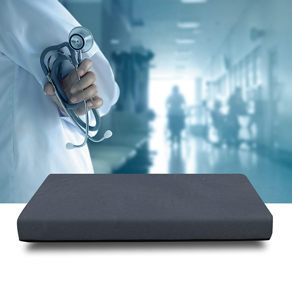 hospital mattress stethoscope and doctor background