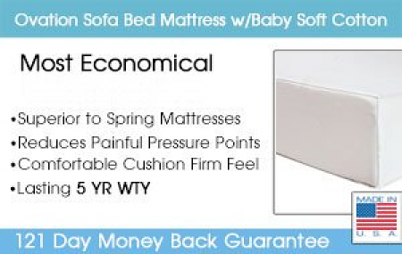Ovation Sofa Bed Mattress With Baby Soft Cotton Cover