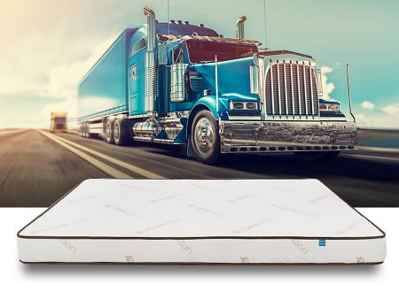 Elation mattress with truck in background