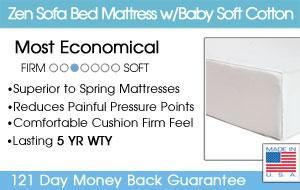 The Zen Sofa Bed Mattress w/Organic Cotton