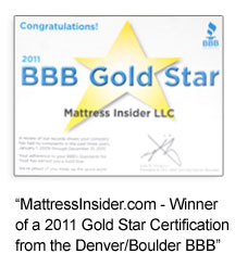 Mattress Insider is a Better Business Bureau Gold Star Recipient!