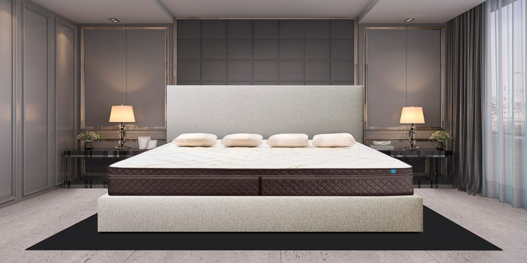 Alaskan King Bed Frame with mattress