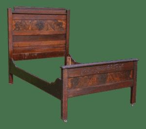 Antique bed frame for 3/4 mattress