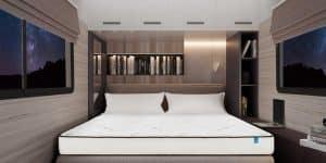 Luxury mattress in RV at Night