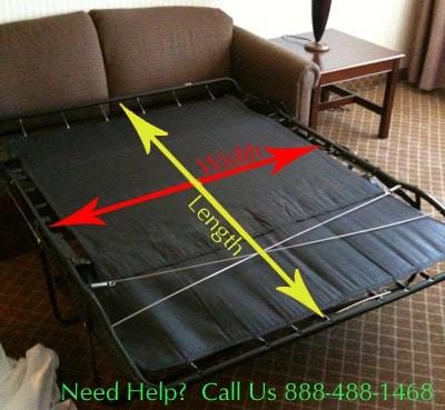 measuring a sofa mattress