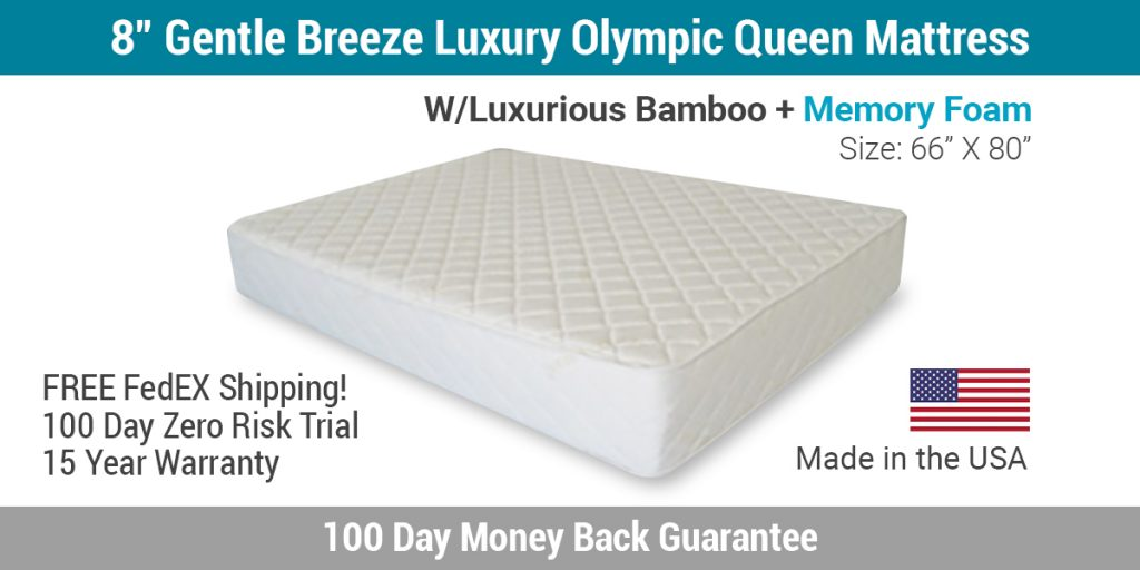 """8"""" Gentle Breeze Luxury Olympic Queen Mattress"""