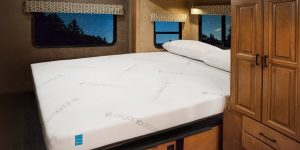 Sedona Mattress in RV nighttime