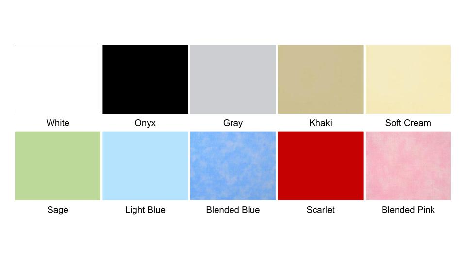 Bed Sheet Color Swatch